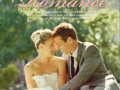 Mark and Suzy in Bride Magazine