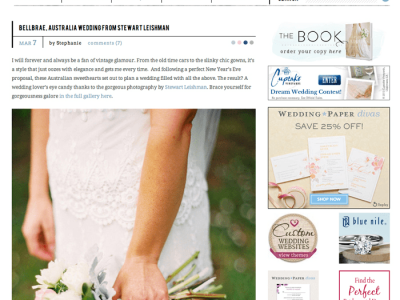 Troy + Sarah's feature on Style Me Pretty {Style Me Pretty Wedding Blog}